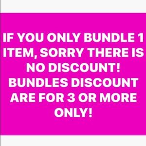 ❌❌ NO DISCOUNT ON 1 BUNDLE INCLUDING SHIPPING ❌❌